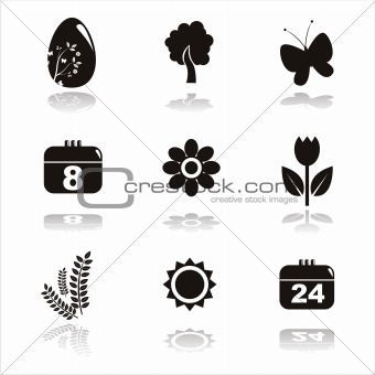 black spring icons