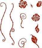 Sheet of Rose Shapes