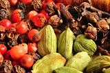Beautiful and colorfu spice food background