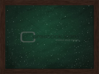 green chalkboard snow