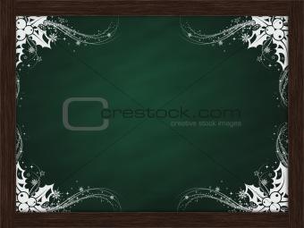 blank white border chalk board