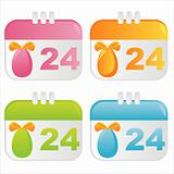 easter calendar icons
