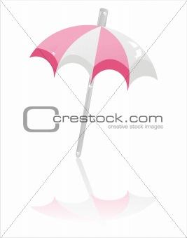beach umbrella isolated on white