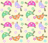 seamless turtle pattern