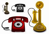 Retro telephone - vector illustration