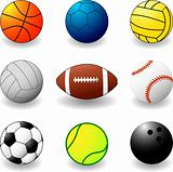 sport balls - vector