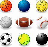 sport balls - vector