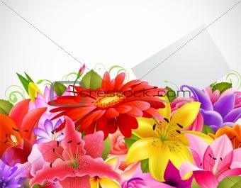 bouquet of tender flowers