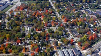 Brighton, Michigan From The Air