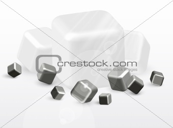 3d black and white abstract background