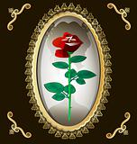 locket and rose