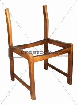 Skeleton wooden chair