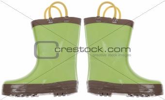 Green Gardening Boots