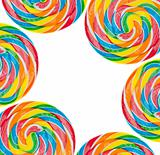 Rainbow Lollipop Background