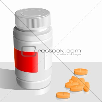 vector orange tablets  around the banks for drugs
