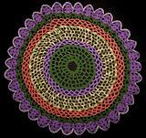 Round knitted napkin