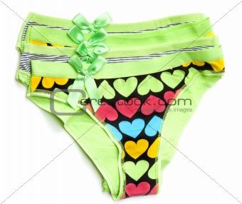 Green feminine panties