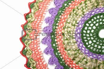 Knitted varicoloured napkin