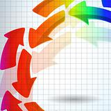 the abstract color arrow background