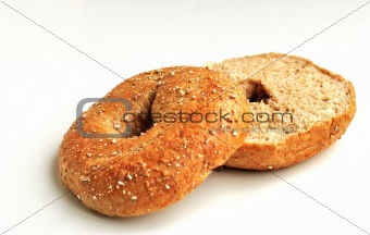 Sliced Whole Wheat Bagel