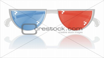 3D glasses isolated on white