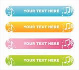 colorful musical banners