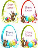 Collection of the Eastern eggs background
