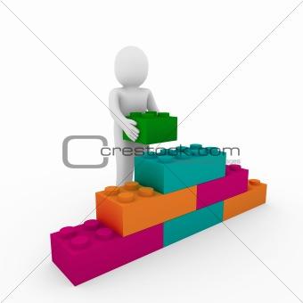3d human stone cube