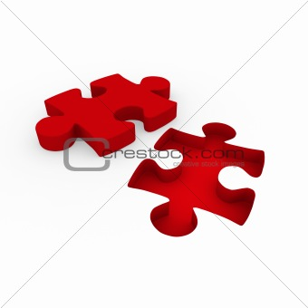 3d puzzle red white