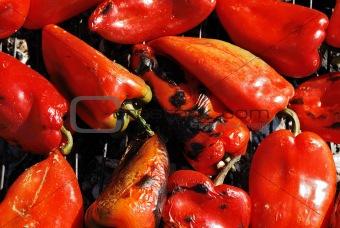 Roast peppers