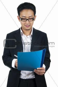 Asian executive