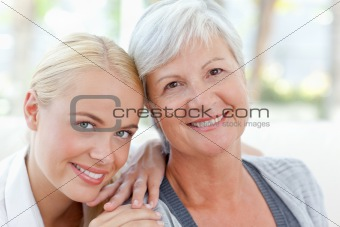 Lovely woman with her mother