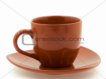 A Brown Cup on a Saucer