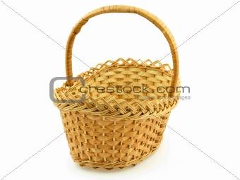 An Empty Wattled Basket