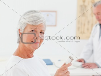 Patient with her pills