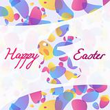 Transparent patterned Easter background