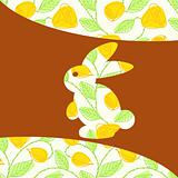 Cute patterned Easter background