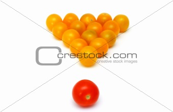 yellow fresh tomatoes as a snooker
