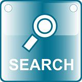 icon blue search web Button
