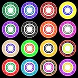 Disco Pattern colorful party circles