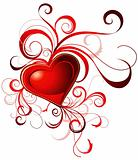 Valentine's red heart