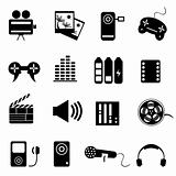 Media related icon set