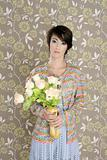 retro woman portrait 60s fashion vintage