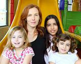 ethnic mixed family mother and daughters