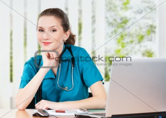 Doctor with laptop