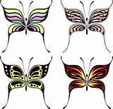fashion butterflies set
