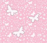 springtime butterflies pattern
