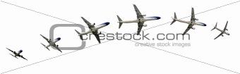 Airplane flight detalis in paths