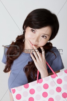Adorable shopping woman