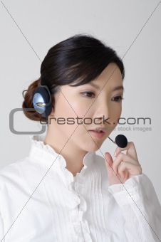 Asian business woman working